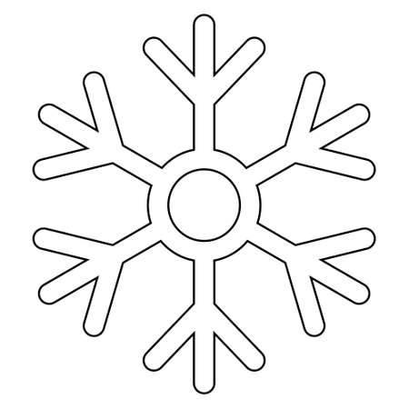 Simple illustration of winter snowflake for Christmas holiday. Flat style