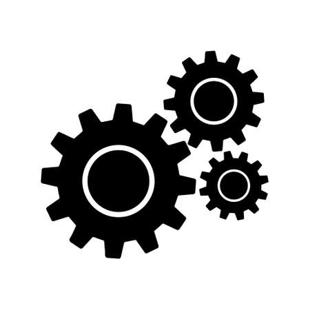 Gears sign simple icon on background. icon of work tools. EPS 10