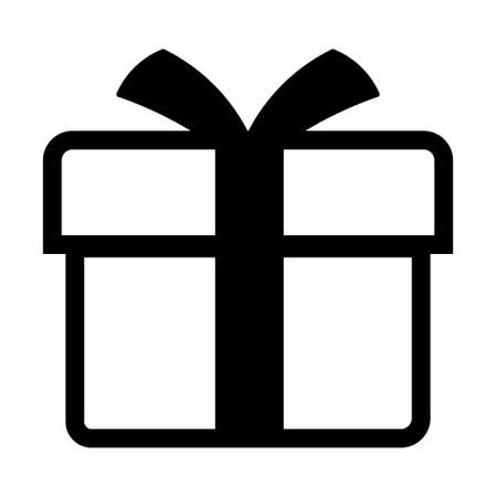 Shopping gift box simple isolated icon for apps and websites Concept of web shopping Vector Illustratie