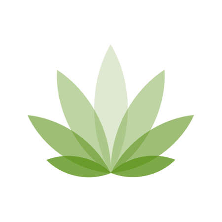 Simple icon of Cannabis Leaf Silhouette Indica marijuana. Flat style