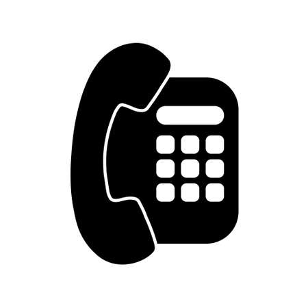 Phone icon. Telephone icon symbol for app and messenger isolated on background
