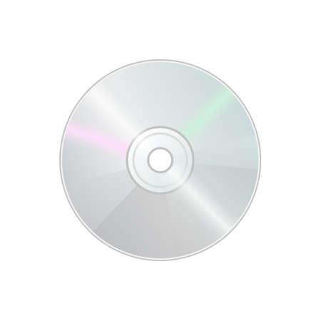 Compact disk CD DVD icon for disk drive in personal computer. Color icon Illusztráció