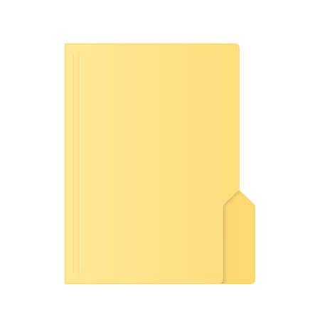 File computer folder icon isolated on white background. Color folder