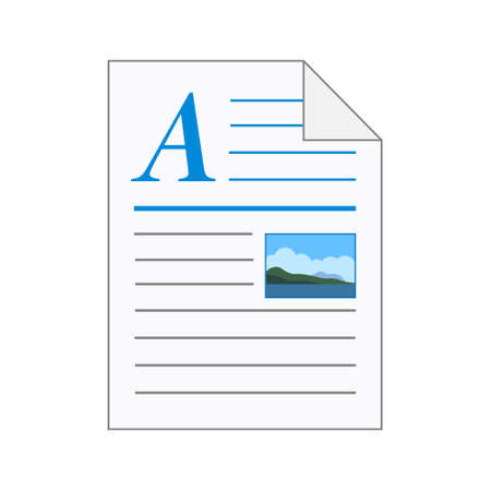File computer document icon isolated on white background. Color folder
