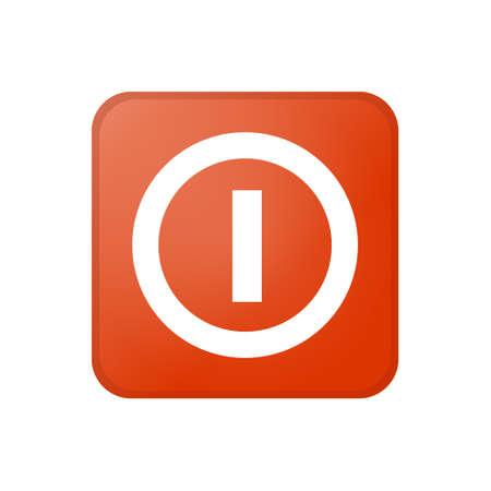 Shutdown or deactivate button icon isolated on white background. Color icon Illusztráció