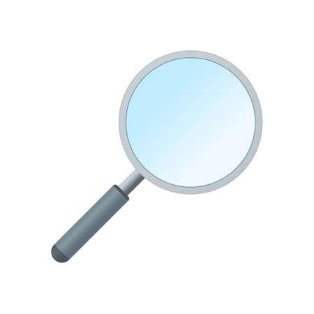 Magnifier search glass icon isolated on white background. Color icon Illusztráció