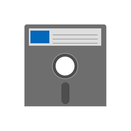 Simple floppy disk icon for personal computer or system unit. 3d Color icon Illusztráció