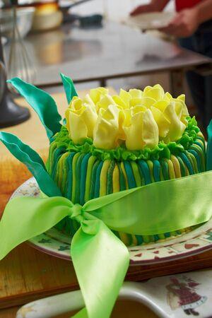 decoracion de pasteles: Happy Birthday Cake Foto de archivo