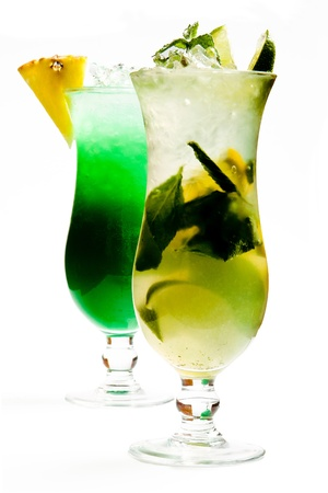 lime juice: Cocktails Stock Photo