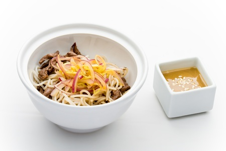 Rise noodles and beef salad