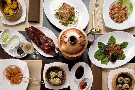 caterer: Asian restaurant set
