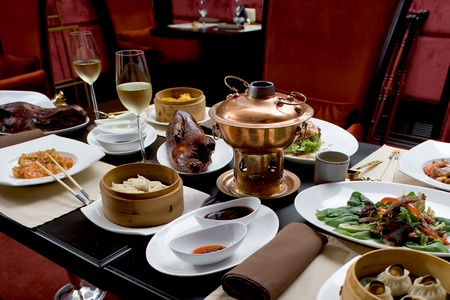 chinese cuisine: Asian restaurant set