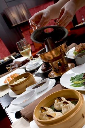 Asian restaurant set