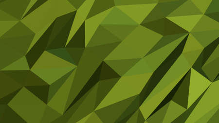 Olive Drab abstract background in polygonal style, colorful vector illustration, 3D Triangles Illusztráció