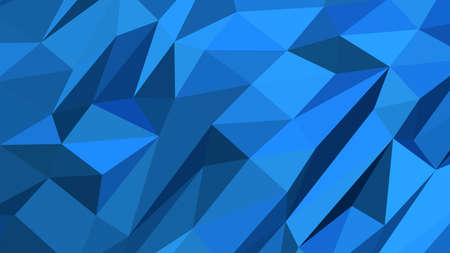 Dodger Blue abstract background in polygonal style, colorful vector illustration, 3D Triangles
