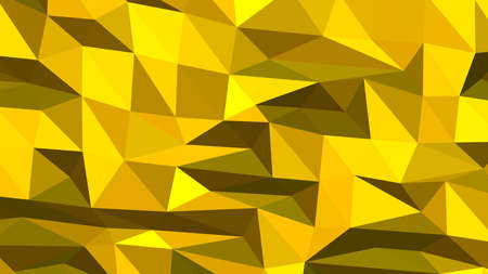 Gold abstract background in polygonal style, colorful vector illustration, 3D Triangles