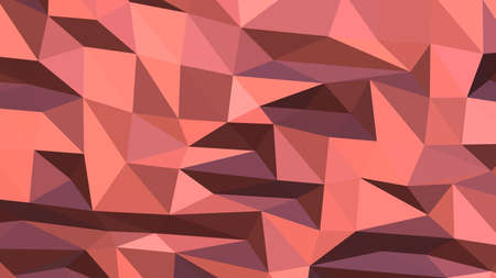 Light Coral abstract background in polygonal style, colorful vector illustration, 3D Triangles