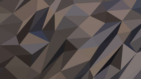 Dim Gray abstract background in polygonal style, colorful vector illustration, 3D Triangles