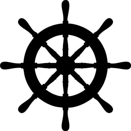 Boat steering wheel vector illustration