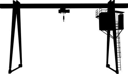 Gantry crane vector illustration on white background