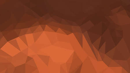 Sienna abstract background in polygonal style, colorful vector illustration, 3D Triangles