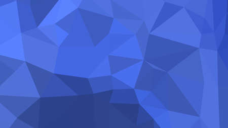 Royal Blue abstract background in polygonal style, colorful vector illustration, 3D Triangles