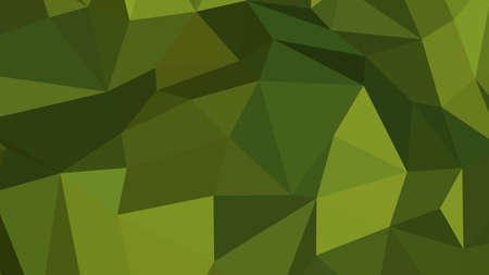Olive Drab abstract background in polygonal style, colorful vector illustration, 3D Triangles