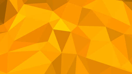 Orange abstract background in polygonal style, colorful vector illustration, 3D Triangles