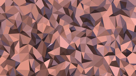 Rosy Brown abstract background in polygonal style, colorful vector illustration, 3D Triangles