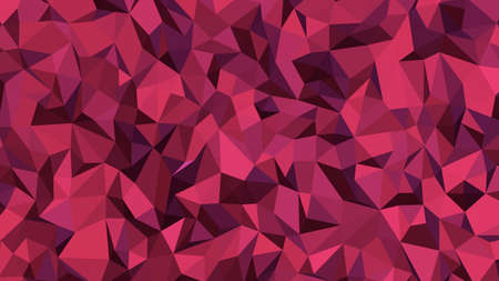 Maroon abstract background in polygonal style, colorful vector illustration, 3D Triangles