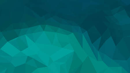 Teal abstract background in polygonal style, colorful vector illustration, 3D Triangles