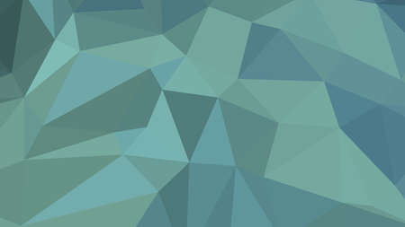 Cadet Blue abstract background in polygonal style, colorful vector illustration, 3D Triangles