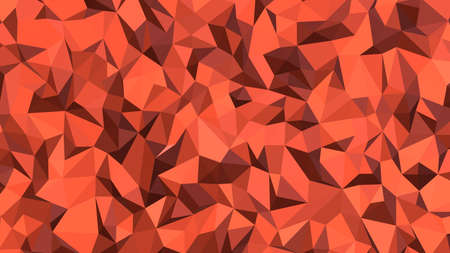 Tomato abstract background in polygonal style, colorful vector illustration, 3D Triangles