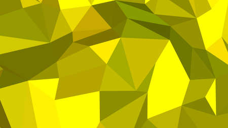 Yellow abstract background in polygonal style, colorful vector illustration, 3D Triangles