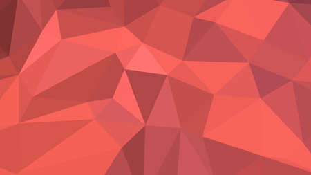 Indian Red abstract background in polygonal style, colorful vector illustration, 3D Triangles