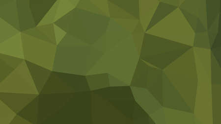 Dark Olive Green abstract background in polygonal style, colorful vector illustration, 3D Triangles