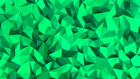 Spring Green abstract background in polygonal style, colorful vector illustration, 3D Triangles