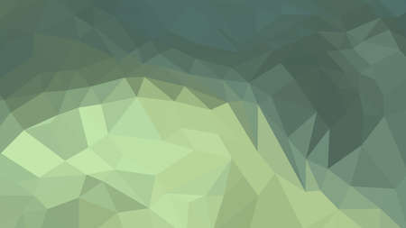 Dark Sea Green abstract background in polygonal style, colorful vector illustration, 3D Triangles