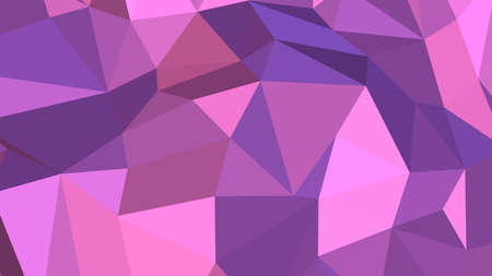 Violet abstract background in polygonal style, colorful vector illustration, 3D Triangles