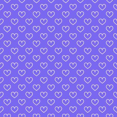 Stylish hearts seamless vector pattern. Wedding background. Romantic vector wallpaper for your design. Ilustração