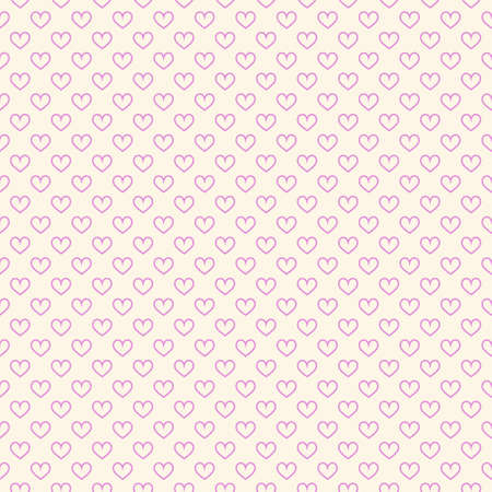Stylish hearts seamless vector pattern. Wedding background. Romantic vector wallpaper for your design. Ilustrace