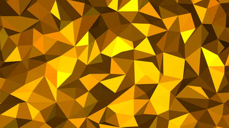 Orange abstract background. Geometric vector illustration. Colorful 3D wallpaper.