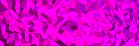 Fuchsia abstract background. Geometric vector illustration. Colorful 3D wallpaper.
