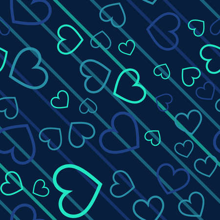 Seamless abstract pattern with hearts. Creative kids texture for fabric, wrapping, textile, wallpaper, apparel. Vector illustration.