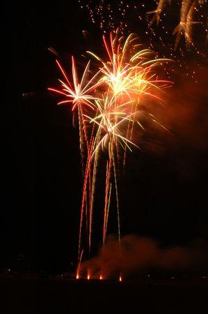 A 4th of July firework in Skokie, IL.