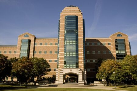 institute: University of Illinois in Champaign - Beckman Institute. Stock Photo
