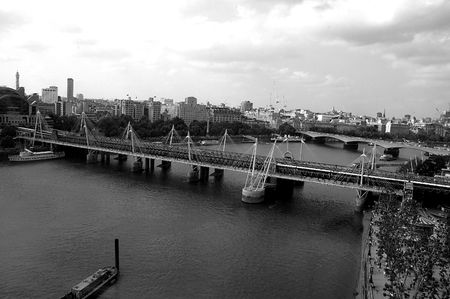 Taken out of the London Eye with view of the city.