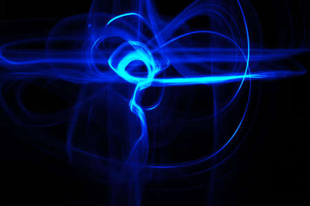 long exposure: Drawn with a single light and long exposure.