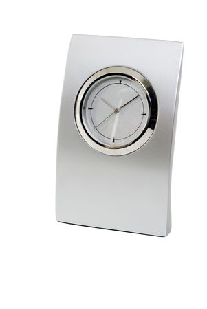 objected: Traditional clock on white background.