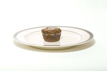 Freshly baked morsel isolated on a white tabletop